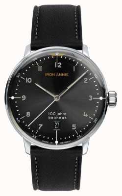 Iron Annie バウハウス|ブラックダイヤル|ブラックレザーストラップ 5046-2