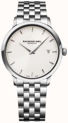 Raymond Weil メンズトッカータウォッチクリームダイヤルステンレスブレスレット 5488-ST-40001
