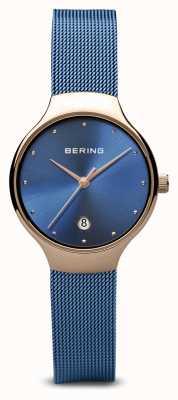 Bering レディース|クラシック|ブルーPVDメッキブルーメッシュブレスレット 13326-368