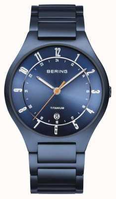 Bering メンズ|チタン|ブルーダイヤル|ブルーブレスレット 11739-797
