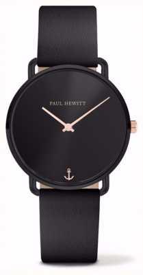 Paul Hewitt |女性は海が恋しい|黒革ストラップ| PH-M-B-BS-32S