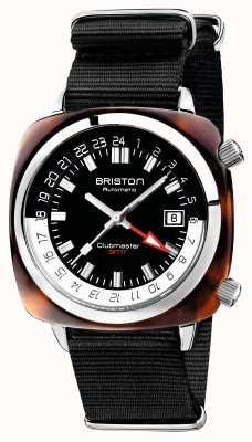 Briston Clubmaster Gmt限定版オートブラックナトーストラップ 19842.SA.T.1.NB