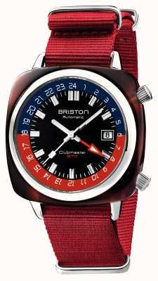Briston Clubmaster GMT限定版|自動|赤いナトーストラップ 19842.SA.T.P.NR