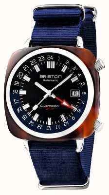 Briston Clubmaster GMT限定版|自動|ブルーナトーストラップ 19842.SA.T.9.NNB