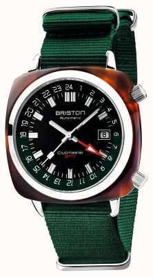 Briston Clubmaster GMT限定版|自動|グリーンナトーストラップ 19842.SA.T.10.NBG