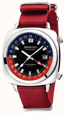 Briston Clubmaster GMT限定版|自動|赤いナトーストラップ 19842.PS.G.P.NR