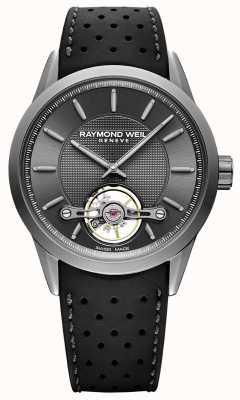 Raymond Weil メンズ|フリーランサー自動グレーダイヤル|黒のラバーストラップ| 2780-TIR-60001