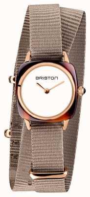 Briston |クラブマスターレディ|シングルトープnatoストラップ|ローズゴールドPVD 19924.PRA.T.2.NT