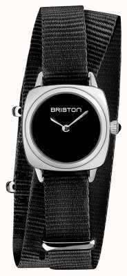 Briston |クラブマスターレディ|シングル黒natoストラップ|ブラックダイヤル| 19924.S.M.1.NB