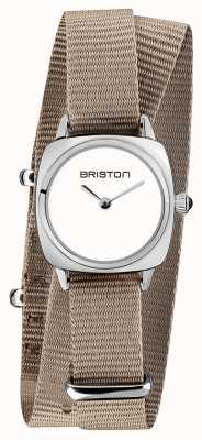 Briston |クラブマスターレディ|シングルトープnatoストラップ|ホワイトダイヤル| 19924.S.M.2.NT