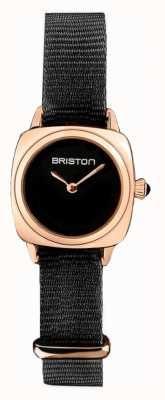 Briston |クラブマスターレディ|シングル黒nato |ローズゴールドPVDケース| 19924.SPRG.M.1.NB - SINGLESTRAP