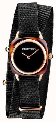 Briston |クラブマスターレディ|シングル黒nato |ローズゴールドPVDケース| 19924.SPRG.M.1.NB