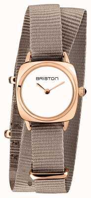 Briston |クラブマスターレディ|シングルトープNATO |ローズゴールドPVDケース| 19924.SPRG.M.2.NT