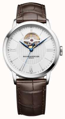 Baume & Mercier |メンズクラッシマブラウンレザー|写真ブラウンレザーシルバーダイヤル|自動| BM0A10274