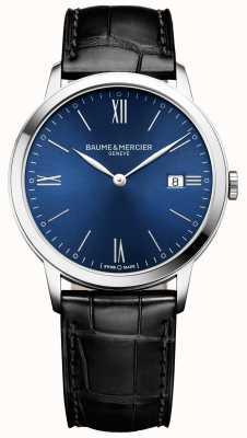 Baume & Mercier |メンズクラシマ|黒革ストラップ|ブルーダイヤル| M0A10324