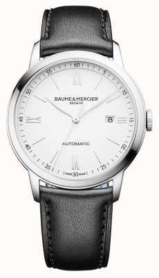 Baume & Mercier |メンズクラッシマ自動|黒革|写真黒革ホワイトダイヤル| BM0A10332