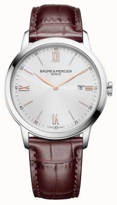 Baume & Mercier |メンズクラッシマライトブラウンレザー|シルバーダイヤル| BM0A10415