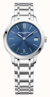 Baume & Mercier |レディースクラッシマステンレス鋼ブルーサンレイダイヤル|ベクターイラスト| CLIPARTO BM0A10477