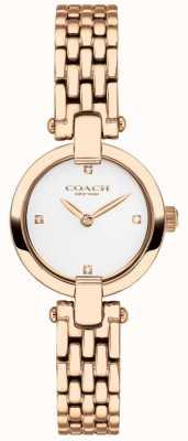 Coach |レディース|クリスティ|ローズゴールドPVDブレスレット|ホワイトダイヤル| 14503392