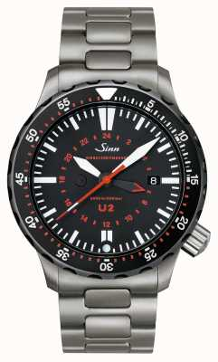Sinn U2 sdr Uボートスチールミッションタイマー 1020.040bracelet