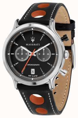 Maserati |エポカレーシングブラックレザーストラップ|ブラックダイヤル| R8851138003