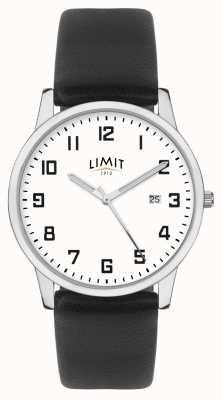 Limit |メンズブラックレザーストラップ|シルバー/ホワイトダイヤル| 5741.01