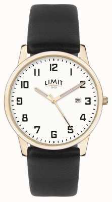 Limit |メンズブラックレザー|シルバーダイヤル|ゴールドケース 5742.01