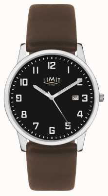 Limit |メンズダークブラウンレザーストラップ|ブラックダイヤル| 5744.01