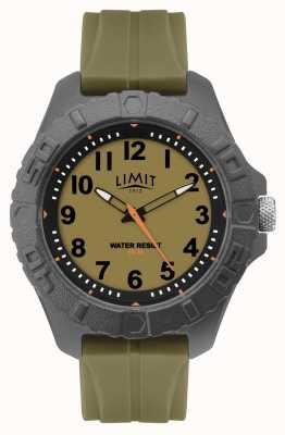 Limit |メンズアクティブアダルトアナロググリーンラバーストラップ|ベクターイラスト| CLIPARTO 5753.01