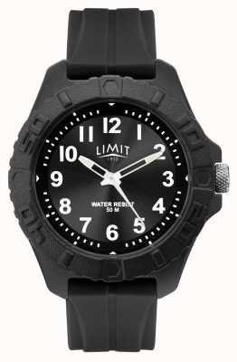 Limit |メンズアクティブアダルトアナログブラックラバーストラップ|写真ブラックラバーストラップ 5754.01