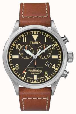 Timex Xレッドウイング|ウォーターベリークロノブラックダイヤル|ブラウンレザー TW2P84300