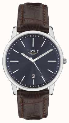 Limit |メンズブラウンレザーストラップ|ブルーダイヤル|シルバーケース| 5745.01
