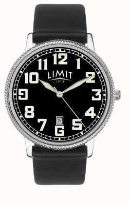 Limit |メンズブラックレザーストラップ|ブラックダイヤル| 5747.01