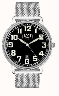 Limit |メンズステンレススチールメッシュブレスレット| Jewelry-stores.co.ukブラックダイヤル| 5748.01