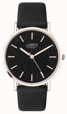 Limit |レディースシークレットガーデン|写真レディースシークレットガーデンブラックレザーストラップ|ブラックダイヤル| 60045.73
