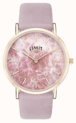 Limit |レディースシークレットガーデン|写真レディースシークレットガーデンパープルレザーストラップ|写真パープルレザーストラップピンクダイヤル| 60051.73