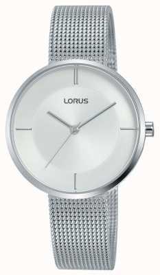 Lorus |レディースステンレススチールメッシュブレスレット| Jewelry-stores.co.ukシルバーダイヤル| RG257QX9