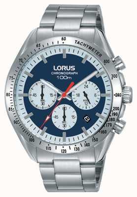 Lorus |メンズクロノグラフ|ステンレスブレスレット|ブルーダイヤル| RT339HX9