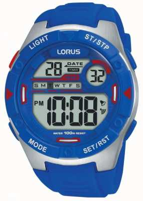 Lorus |メンズスポーツデジタル|ベクターイラスト| CLIPARTOブルーラバーストラップ|ベクターイラスト| CLIPARTO R2301NX9