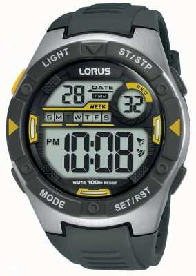 Lorus |メンズスポーツデジタル|ベクターイラスト| CLIPARTOブラックラバーストラップ|写真ブラックラバーストラップ R2397MX9