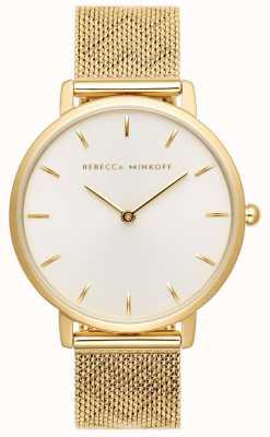 Rebecca Minkoff 女性メジャー|金メッキメッシュブレスレット| Jewelry-stores.co.ukシルバーホワイトダイヤル 2200298