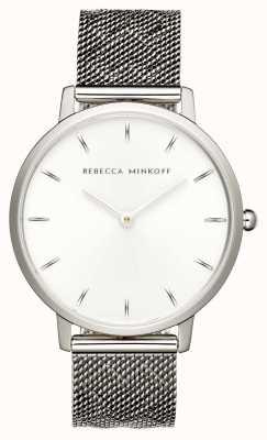 Rebecca Minkoff 女性メジャー|ステンレスメッシュブレスレット| Jewelry-stores.co.ukシルバーダイヤル| 2200297