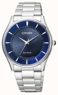 Citizen |メンズエコドライブ|ステンレススチールブレスレット|写真ステンレススチールブレスレットブルーダイヤル| BJ6480-51L