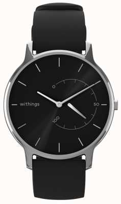 Withings 時代を超越したシックな - 黒、黒のシリコーンを移動 HWA06M-TIMELESS CHIC-MODEL 1-RET-INT
