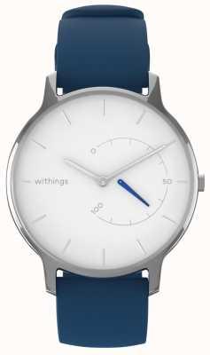 Withings 時代を超越したシックな - 白い、青いシリコーン HWA06M-TIMELESS CHIC-MODEL 2-RET-INT