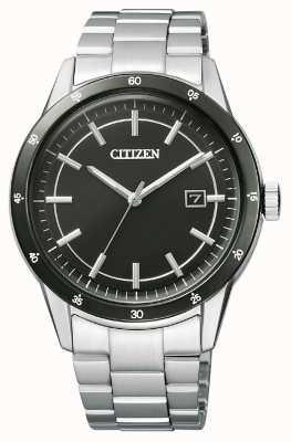 Citizen  メンズエコドライブ ステンレスブレスレット ブラックダイヤル  AW1164-53E