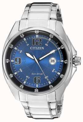 Citizen |メンズエコドライブ|ブルーダイヤル|ステンレススチールブレスレット|写真ステンレススチールブレスレット AW1510-54L