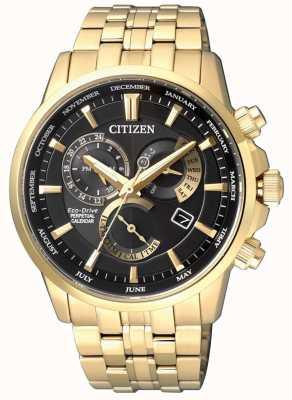 Citizen |メンズエコドライブキャリバー8700  - 安い、ディスカウント価格ブラックダイヤル|ゴールドトーン BL8142-84E