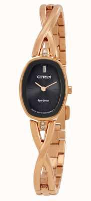 Citizen |レディースシルエットエコドライブ|ゴールドトーンブレスレット| EX1413-55E