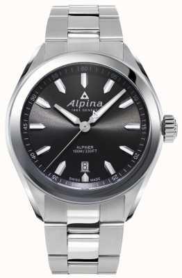 Alpina |メンズアルピナーステンレススチールブレスレット|写真ステンレススチールブレスレットグレーダイヤル| AL-240GS4E6B